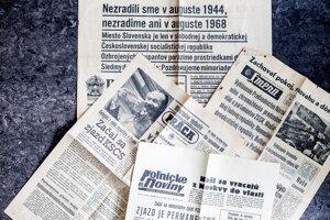 Dobové noviny z augusta 1968.
