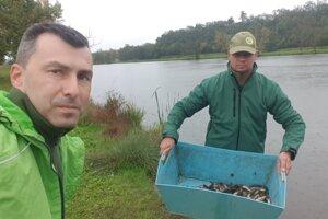 Levická mestská organizácia SRZ daruje ryby do postihnutej oblasti Hrona.