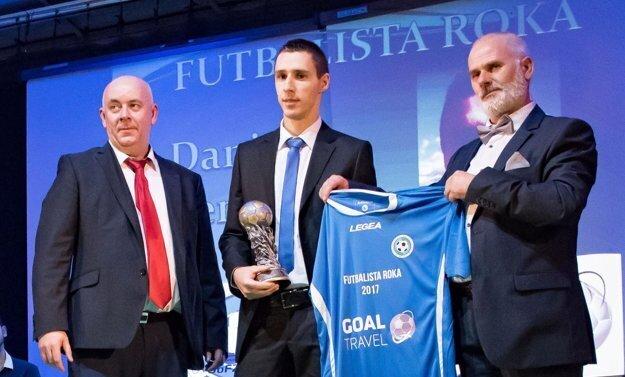 ObFZ Nitra zvolil Daniela Drienovského najlepším futbalistom za rok 2017.
