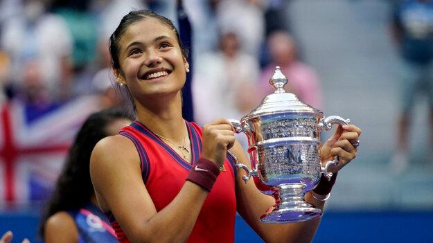 Emma Raducanuová vyhrala US Open 2021.