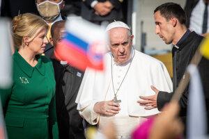 Prezidentka Zuzana Čaputová a pápež František.