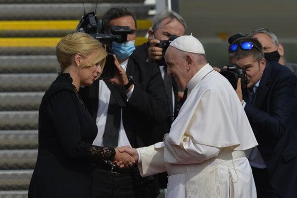 Prezidentka Čaputová a pápež František.