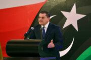 Líbyjský premiér Abdul Hamid Mohammed Dbeibah.