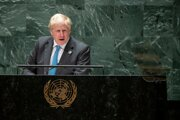 Britský premiér Boris Johnson na Valnom zhromaždení OSN v New Yorku.