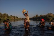 Utečenci z Haiti na ceste do Ameriky.