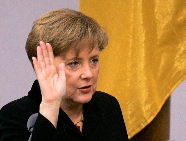 Ako kancelárka zložila svoj sľub v roku 2005