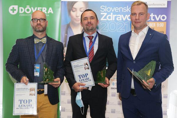 V ankete dostali najviac hlasov (zľava) profesor  Miloš Jeseňák, lekár Ivan Kocan a docent Branislav Kolarovszki.