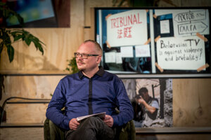 Bieloruský režisér a scenárista Andrej Kurejčik (41) utiekol z Bieloruska, dnes žije na Slovensku.