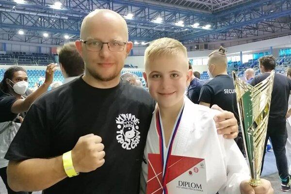 Tréner Tomáš Kleman a Tomáš Naňo.