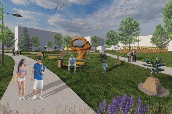 Víťazný návrh číslo 2 Centrálneho klimatického parku počíta aj s galerijnou časťou.