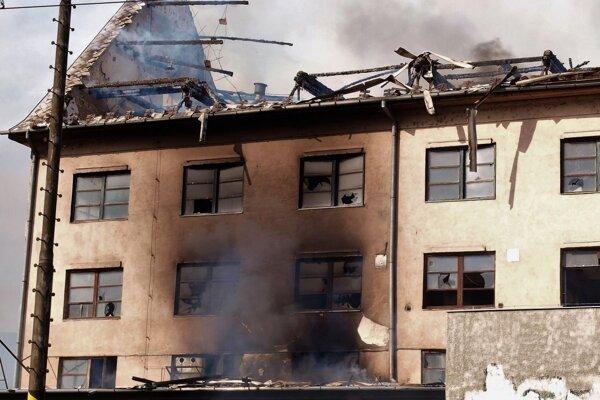 Požiar v areáli bývalého podniku Palma.