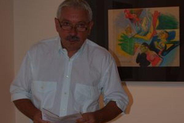 Dielo a život Vincenta Hložníka návštevníkom vernisáže priblížil kurátor výstavy Milan Mazúr.