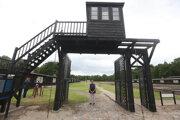 Brána, ktorou sa vchádzalo do koncentračného tábora Stutthof.