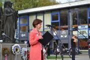 Daniela Polovková na proteste Za slušné Slovensko v Humennom otvorene hovorila o vlastných skúsenostiach s miestnou vládnou mocou.