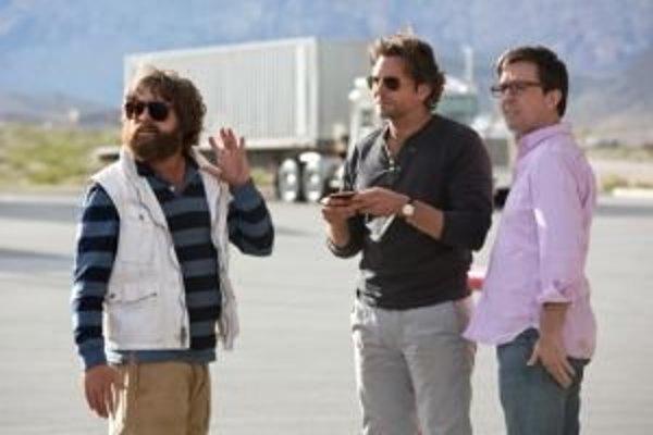 Phil, Alan a Stue (Bradley Cooper, Zach Galifianakis, Ed Helms).