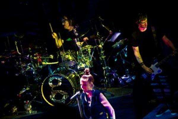 Kľúčovými postavami v Garbage sú bubeník Butch Vig a speváčka Shirley Mansonová. Na turné ich sprevádza aj basgitarista Eric Avery z Jane's Addiction (vpravo).