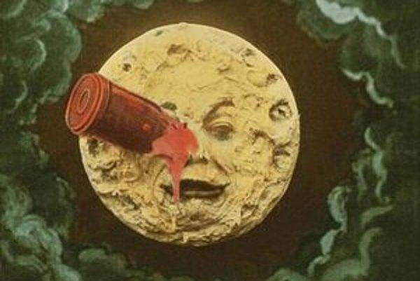 Cesta na Mesiac bola pôvodne farebná.
