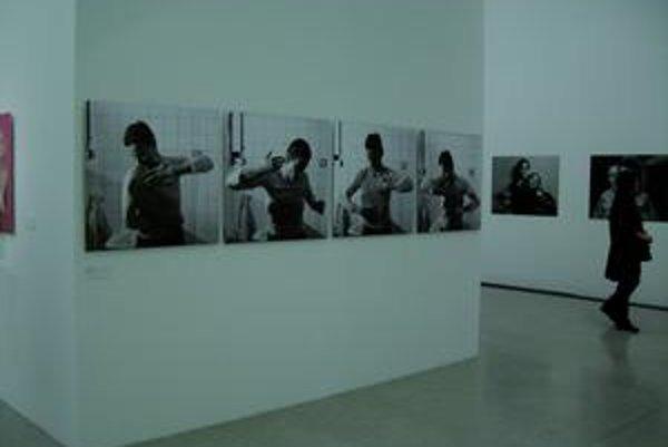Na obrázku fotoperformancia Anny Daučíkovej Výchova dotykom. Slovensko na viedenskej výstave, ktorá trvá do 14. februára a potom sa presťahuje do Varšavy, zastupujú aj Mária Bartuszová, Klára Bočkayová, Anetta Mona Chisa a Lucia Tkáčová, Eva Filová, Denis