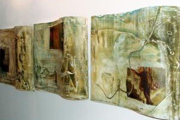Z výstavy Vlada Šimka a Fera Guldana.