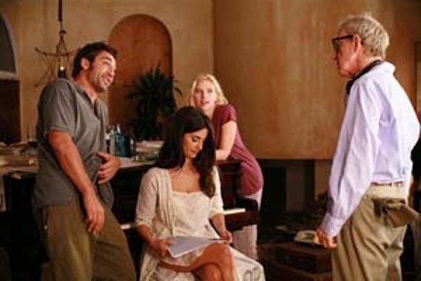 Javier Bardem, Penélope Cruz a Scarlett Johansson hltajú rady skúseného milovníka Woodyho Allena.