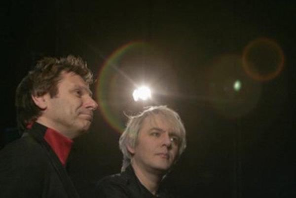 Roger Taylor (vľavo) a Nick Rhodes z kapely Duran Duran.