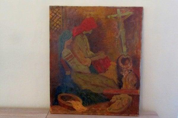 Podľa vyjadrenia znalca umeleckých diel je cena tohto obrazu minimálne 50-tisíc eur.