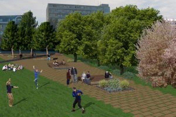 Návrh poukazuje na obnovu zelene.