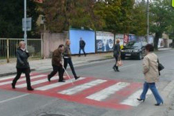 Deň bielej palice upozorňoval vodičov na úlohu tejto pomôcky pre nevidiacich.