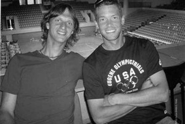 Filip Polášek (vľavo) so svojím tenisovým partnerom Travisom Parrottom.