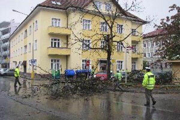 Stromy vyrúbali aj na Námestí Sv. Anny.