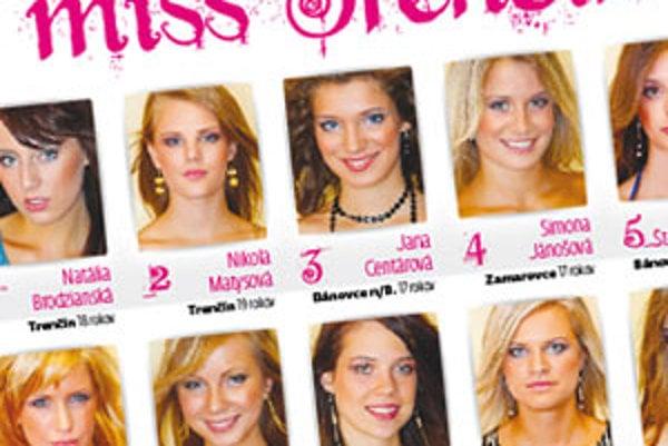 O titul Miss Trenčín 2009 súťaží dvanásť finalistiek.