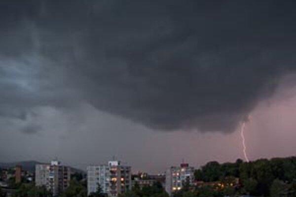 Fotografia včerajšej búrky od nášho čitateľa.