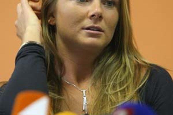 Daniela Hantuchová na včerajšom stretnutí s novinármi v Bratislave.