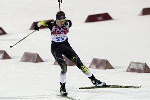 Anastasia Kuzminová počas skvelých pretekov na 7,5 kilometra.