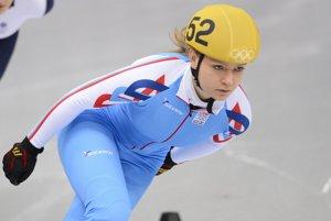 Slovenská rýchlokorčuliarka Tatiana Bodóvá počas kvalifikácie šortreku na 1500 metrov žien.