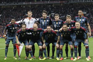 Bayern pre zápasom v Manchesteri.