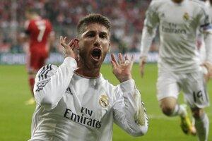 Z gólu sa teší Sergio Ramos.