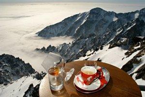 Kávička vo Vysokých Tatrách.