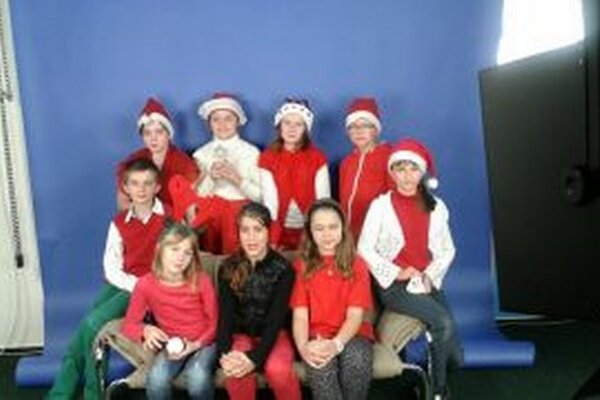Deti z TV Junior natočili Vianočný pozdrav.