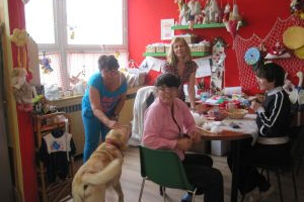 Katka a Marcelka sa v keramickej dielni cítia ako doma. Inak to nie je ani s labradorom Čakym.