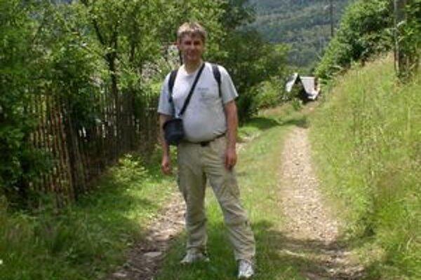 Ján Kormanec na výlete na Kýčere (vrch nad Krásnom nad Kysucou).