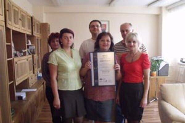 Realizačný tím, ktorý sa podieľal na získaní certifikátu manažérstva kvality.