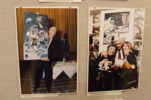 Na fotografiách je zvečnený aj americký kozmonaut slovenského pôvodu E. A. Cernan, ktorého starí rodičia pochádzali z Vysokej nad Kysucou.