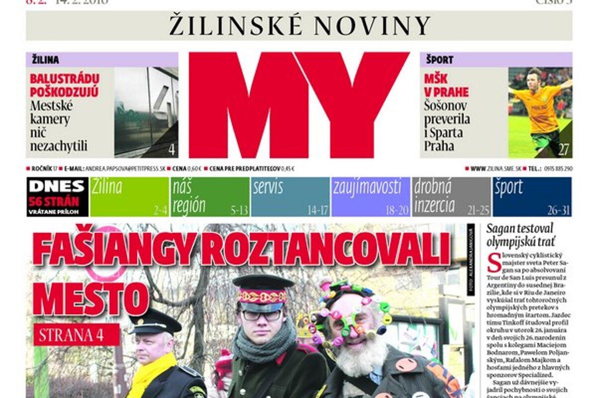 3437f0fd576ab Nové číslo týždenníka MY Žilinské noviny v predaji už v pondelok ...
