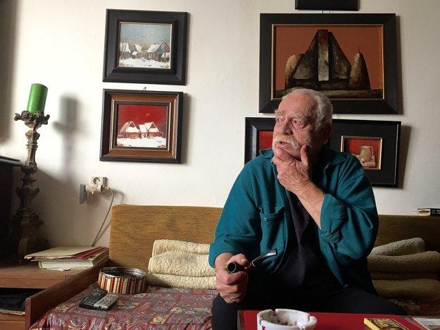 Výtvarník a bývalý dlhoročný riaditeľ Galérie Ladislav Moško.