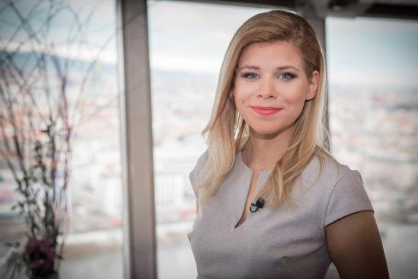 Moderátorka a reportérka RTVS Zuzana Hanzelová.