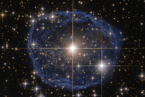 "Príklad vesmírnej ""bubliny"" zachytenej Hubblovým teleskopom."