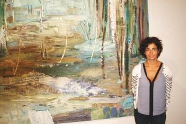 Cristina Fiorenza a jedno z jej diel.