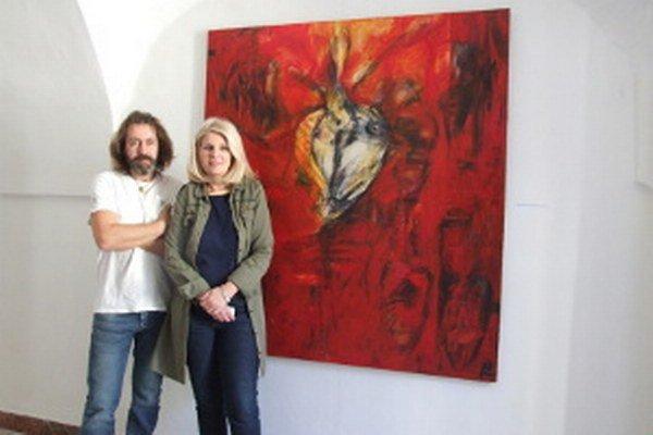 Pred obľúbeným obrazom. Manželov Kubinských spája umenie od študentských čias.