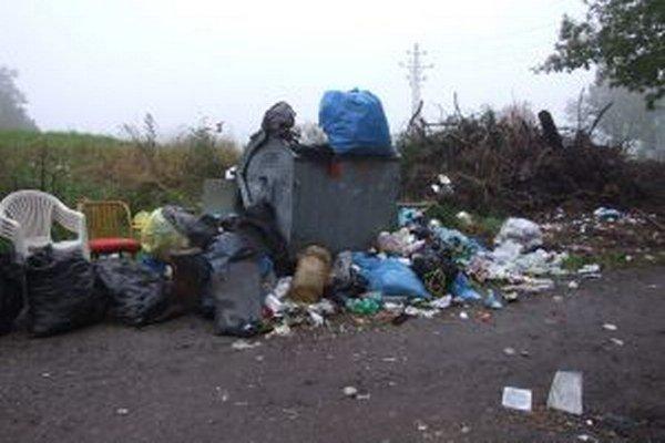 Jeden kontajner nestačí. Odpadu v blízkosti tajchu je veľa, zvieratá ho rozvláčajú po celom okolí.